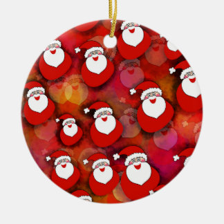 Festliches Weihnachtsmann-Muster Keramik Ornament