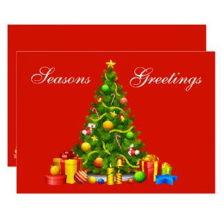 Festtages-Weihnachtsbaum-u. Geschenk-Feiertag Karte