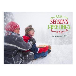 Festtages-Weihnachtsfeiertags-Foto-Postkarte Postkarte