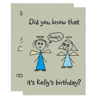 Fête d'anniversaire de chiffre fille adorable de carton d'invitation  12,7 cm x 17,78 cm