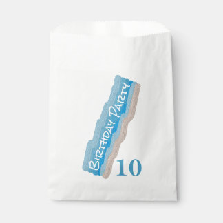 Fête d'anniversaire de plage d'océan sachets en papier