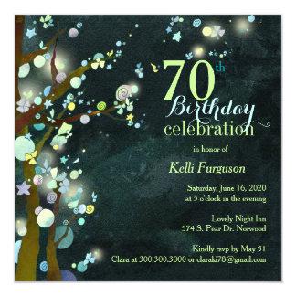 Fête d'anniversaire impertinente de belle nuit carton d'invitation  13,33 cm