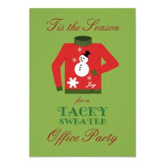 Fête de Noël de mauvais goût de bureau de chandail Carton D'invitation 12,7 Cm X 17,78 Cm
