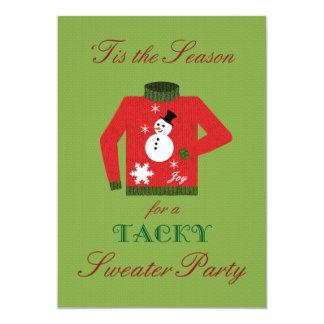 Fête de Noël de mauvais goût de chandail avec le Carton D'invitation 12,7 Cm X 17,78 Cm