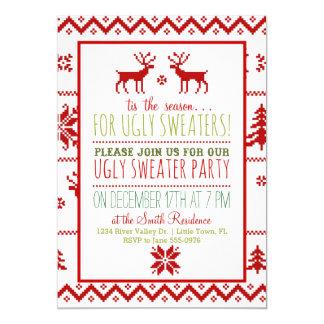 Fête de vacances de mauvais goût laide de Noël de Carton D'invitation 12,7 Cm X 17,78 Cm