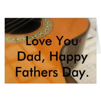 Fête des pères de guitare carte de vœux