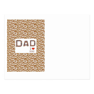 Fête des pères de PAPA : BASE élégante LOWPRICES d Cartes Postales