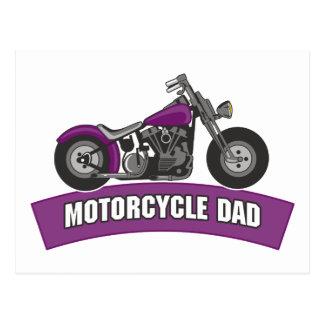 Fête des pères de papa de moto cartes postales