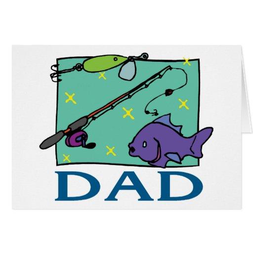 Fête des pères de papa de pêche cartes de vœux