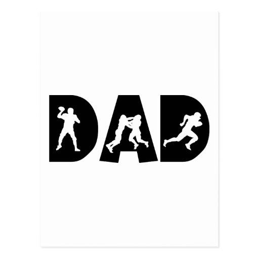 Fête des pères de papa du football cartes postales
