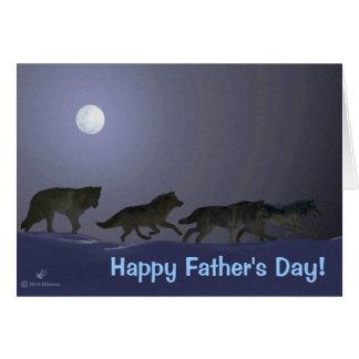 Fête des pères de Wolfpack Carte De Vœux