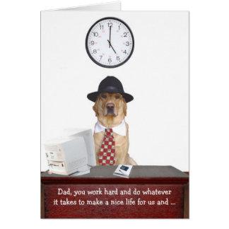 Fête des pères drôle cartes de vœux