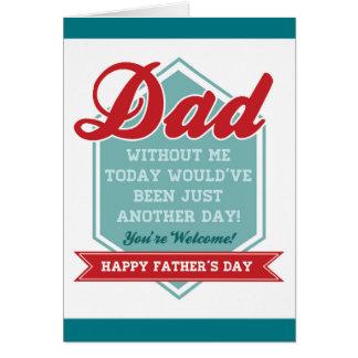 Fête des pères drôle carte de vœux