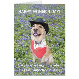 Fête des pères drôle du Texas Carte De Vœux