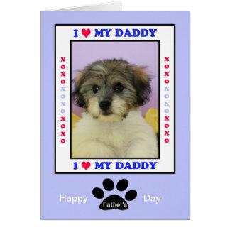 Fête des pères du chien -- Votre photo Carte De Vœux