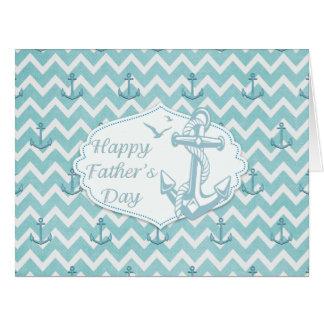 """Fête des pères - """"fête des pères heureuse"""" - carte de vœux grand format"""