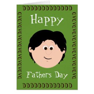 Fête des pères (fils) carte de vœux