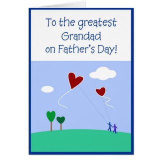 Fête des pères - grand-père carte de vœux