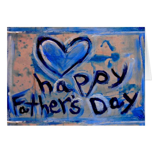 fête des pères heureuse abstraite carte