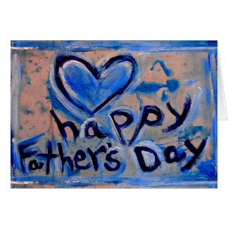 fête des pères heureuse abstraite carte de vœux