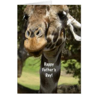 Fête des pères heureuse ! Carte de girafe