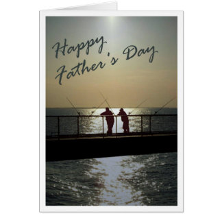 Fête des pères heureuse carte de vœux