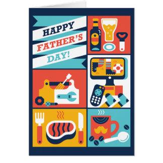 Fête des pères heureuse ! carte de vœux