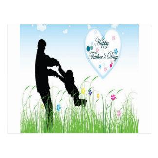 Fête des pères heureuse cartes postales