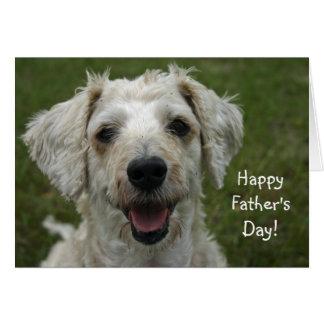 Fête des pères heureuse de chien carte de vœux