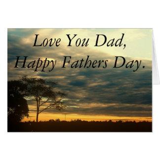 Fête des pères heureuse de ciel carte de vœux