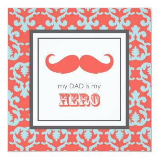 Fête des pères heureuse carton d'invitation  13,33 cm