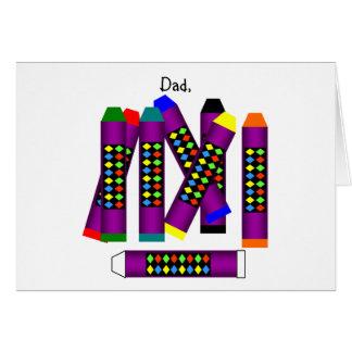 Fête des pères heureuse ! (la patience) carte de vœux