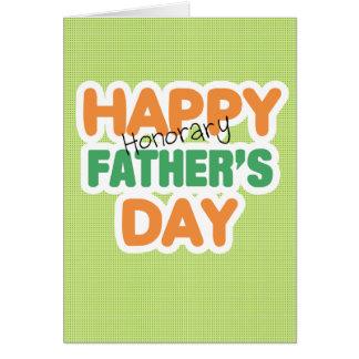 Fête des pères honorifique heureuse carte de vœux