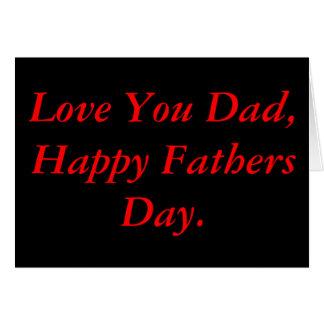 Fête des pères noire et rouge carte de vœux