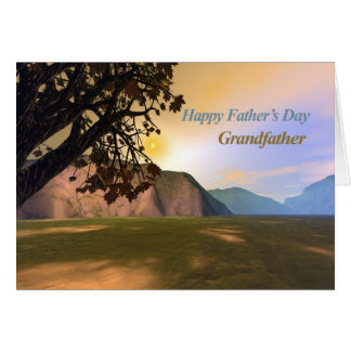 Fête des pères pittoresque pour le grand-père carte de vœux