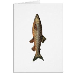 Fête des pères vintage de pêche carte de vœux