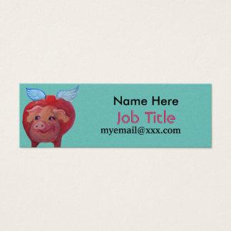 fette Fliegenschwein-Visitenkarte Mini Visitenkarte