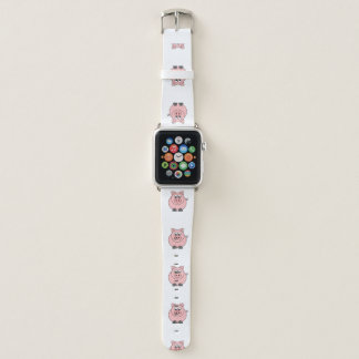 Fette rosa Schweine Apple Watch Armband