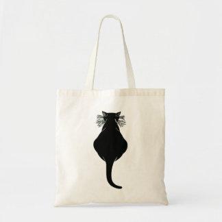 Fette schwarze Katzen-Rückseite Tragetasche