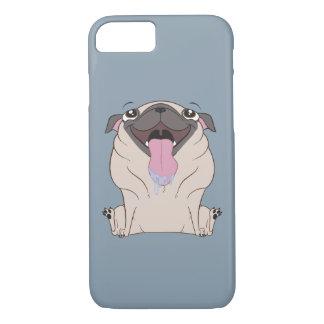 Fetter Cartoon-Mops-HundiPhone 7 Fall iPhone 8/7 Hülle