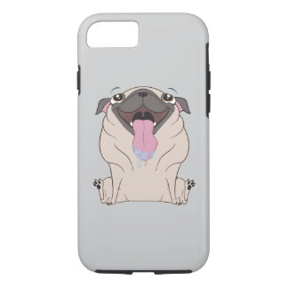 Fetter Cartoon-Mops-HundiPhone Fall iPhone 7 Hülle