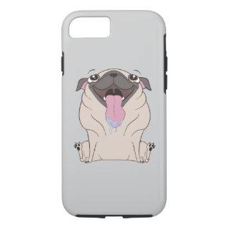Fetter Cartoon-Mops-HundiPhone Fall iPhone 8/7 Hülle