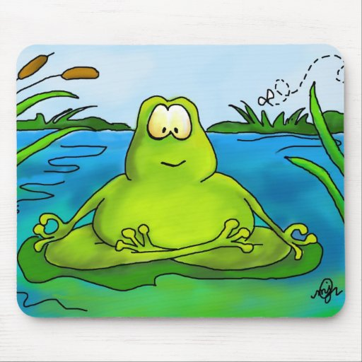 Fetter meditierender Frosch Mauspad