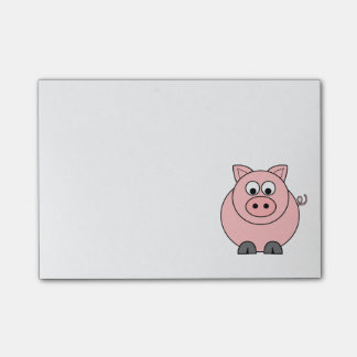 Fettes rosa Schwein Post-it Klebezettel