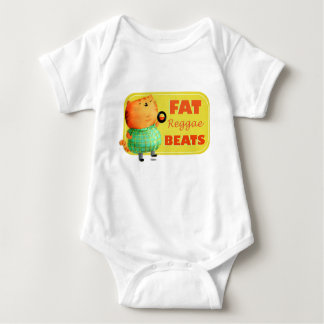 Fetthaltige fetthaltige fette Reggae-Katze Babybody