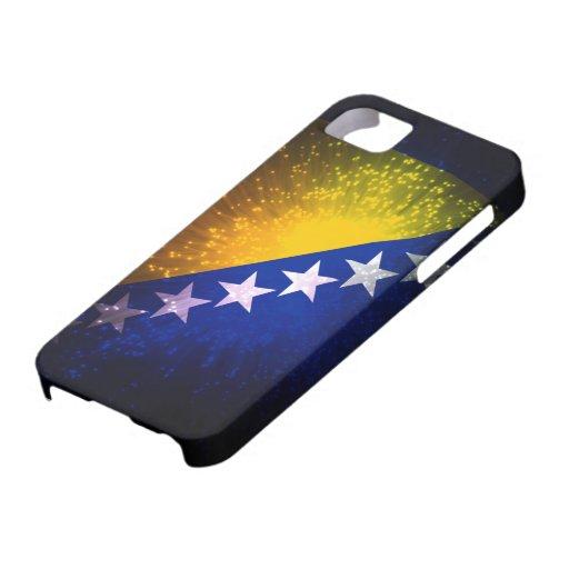 Feu d'artifice ; Drapeau de la Bosnie Étui iPhone 5