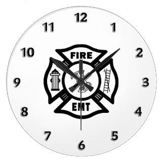 Feuer-Abteilung EMT Große Wanduhr