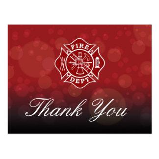 Feuer-Abteilung - Feuerwehrmann danken Ihnen Postkarte
