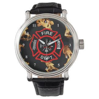 Feuer-Abteilungs-Abzeichen des Armbanduhr