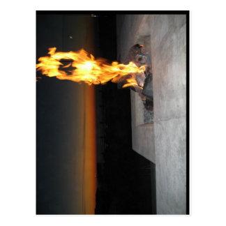 Feuer an einem restauant nahen der Strand in San Postkarte